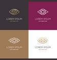 four linear eye logo vector image