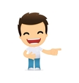 funny cartoon casual man vector image vector image