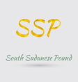 Golden South Sudanese Pound Symbol vector image vector image