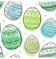 green easter seamless pattern vector image vector image