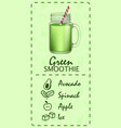 green smoothie concept banner realistic style vector image