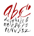 hand drawn alphabet in calligraphy brush vector image vector image