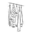 Hand drawn wardrobe sketch vector image vector image