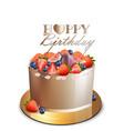 happy birthday cake realistic anniversary vector image vector image