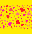 hearts seamless pattern happy valentines day 14th vector image vector image