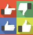 icons for social network web app like symbol hand vector image vector image