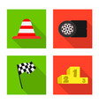 isolated object of car and rally symbol vector image