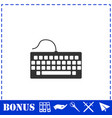 keyboard icon flat vector image vector image