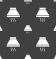 Kitchen hood icon sign Seamless pattern on a gray vector image vector image