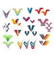letter v alphabet symbols vector image vector image