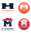 M H house logo vector image vector image
