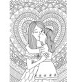 mother kissing daughter vector image vector image