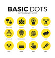networking flat icons set vector image vector image
