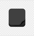 paper app icon with curled corner vector image vector image