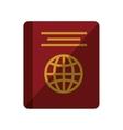 passport identification tourist shadow vector image vector image
