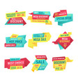 promotion and advert banners for clearance sale vector image vector image