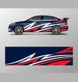 racing car wrap design wrap design for custom vector image