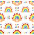 rainbow pattern cute hand drawn rainbow seamless vector image