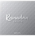 ramadan kareem background ornamental pattern vector image vector image