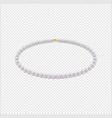 realistic pearl necklace icon closeup vector image