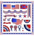 Red and blue patriotic American badges labels with vector image vector image