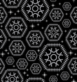 Seamless black design star honeycomb circle and li vector image