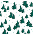 seamless pattern with colorful fir trees vector image vector image