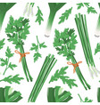 seamless pattern with onion parsley dill herbs vector image vector image