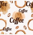 seamless pattern with watercolor coffee beans vector image vector image