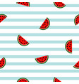 seamless striped watermelon geometric pattern vector image vector image