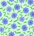Seamless texture of abstract flower vector image vector image