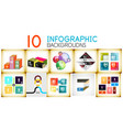 set of infographic backgrounds vector image vector image