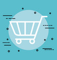 shopping cart isolated icon vector image vector image