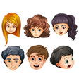 Six heads vector image vector image