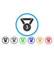 third medal rounded icon vector image