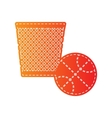 Trash sign Orange applique isolated vector image vector image