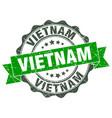 vietnam round ribbon seal vector image vector image