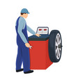 wheel balancer single icon in cartoon style for vector image