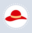 women red elegant hat shopping icon fashion vector image