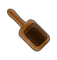 wooden spatula for massage vector image vector image