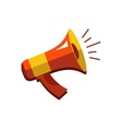 Flat icon of megaphone for social media vector image