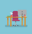 workplace flat style vector image