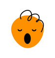 abstract orange face with open mouth and curly vector image