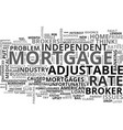 adjustable rate mortgage snafu text word cloud vector image vector image