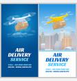 aerial delivery drone vector image