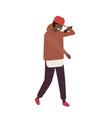 african american r n b vocalist wearing cap vector image