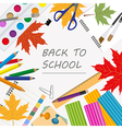 Back to school Stationary graphic template vector image