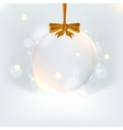 Background with elegant christmas ball vector image