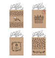 bakery packages set vector image