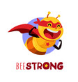 bee strong vector image vector image